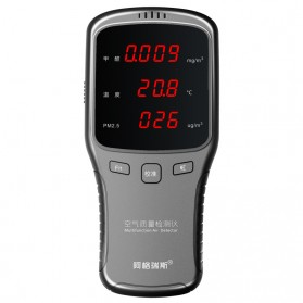 Air Quality Formaldehyde Detector Sensor PM1.0 PM2.5 PM10 HCHO - WP6910 - Black - 4