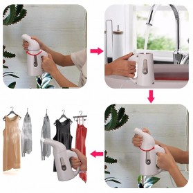 WOXOYOZO Setrika Uap Handheld Garment Steamer 120ml - HDL-7010 - White - 6
