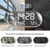 Jam Weker Alarm Humidity Hygrometer Temperature LED Desk Clock - DS1302 - Gray