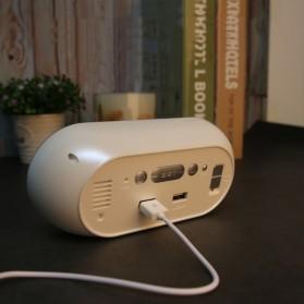Jam Weker Alarm Humidity Hygrometer Temperature LED Desk Clock - DS1302 - Gray - 6
