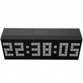 Jam Weker Alarm Temperature LED 6 Bit Desk Clock - F0350 - Black