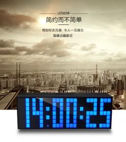Jam Weker Alarm Temperature LED 6 Bit Desk Clock - F0350 - Black - 2