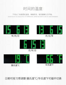 Jam Weker Alarm Temperature LED 6 Bit Desk Clock - F0350 - Black - 4