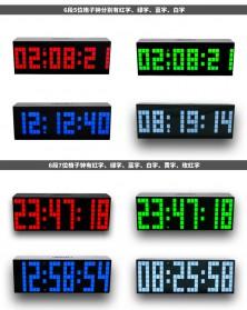 Jam Weker Alarm Temperature LED 6 Bit Desk Clock - F0350 - Black - 5