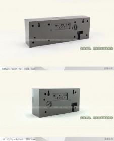 Jam Weker Alarm Temperature LED 6 Bit Desk Clock - F0350 - Black - 6