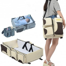 Tas Kasur Bayi Lipat 2 in 1 Portable Mummy Bag - OTBBY001-RD - Gray