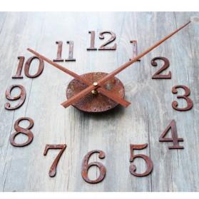 Jam Dinding DIY Giant Wall Clock Quartz Creative Design Model Retro European Vintage - DIY-11 - Brown