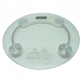 Taffware Digipounds Gohide Timbangan Badan Kaca Digital 180Kg Small Size - SC-04 - Transparent