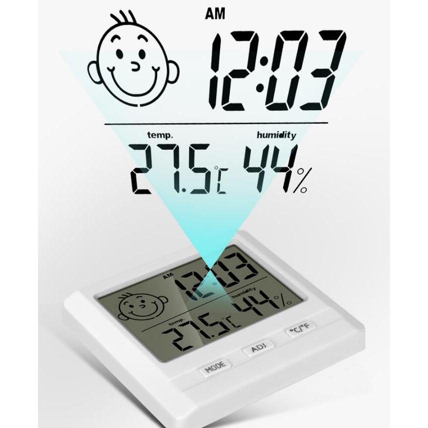 ... Riters Jam Meja Digital Thermometer Hygrometer Humidity Suhu Ruangan -  RTS108 - White - 1 ... aac4bf286f