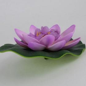 Bunga Lotus Imitasi Dekorasi Kolam Taman - QZ20 - Violet - 2
