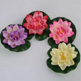 Bunga Lotus Imitasi Dekorasi Kolam Taman - QZ20 - Violet - 4