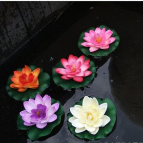 Bunga Lotus Imitasi Dekorasi Kolam Taman - QZ20 - Violet - 5