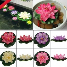 Bunga Lotus Imitasi Dekorasi Kolam Taman - QZ20 - Violet - 6