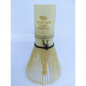 OneTwoCups Kuas Pengaduk Matcha Green Tea Bamboo Whisk Brush - ZF0824-001 - Brown - 11