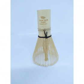 OneTwoCups Kuas Pengaduk Matcha Green Tea Bamboo Whisk Brush - ZF0824-001 - Brown - 12
