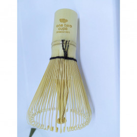 OneTwoCups Kuas Pengaduk Matcha Green Tea Bamboo Whisk Brush - ZF0824-001 - Brown - 9