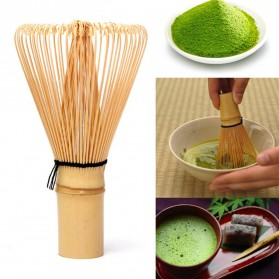 HOUSEEN Kuas Pengaduk Matcha Green Tea Bamboo Whisk Brush - ZF0824-001 - Brown