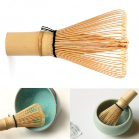 OneTwoCups Kuas Pengaduk Matcha Green Tea Bamboo Whisk Brush - ZF0824-001 - Brown - 4