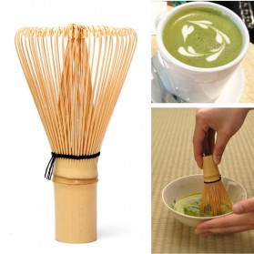OneTwoCups Kuas Pengaduk Matcha Green Tea Bamboo Whisk Brush - ZF0824-001 - Brown - 7