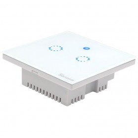 Sonoff Panel Saklar Lampu Touch WiFi Smart Home 2 Switch - T1 UK - White - 2