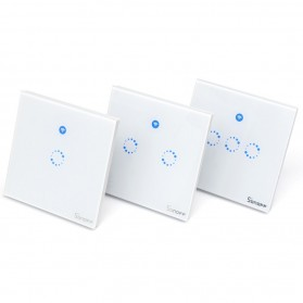 Sonoff Panel Saklar Lampu Touch WiFi Smart Home 2 Switch - T1 UK - White - 4