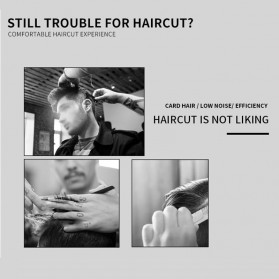 Kemei Alat Cukur Elektrik Hair Trimmer Shaver - KM-2600 - Red - 6