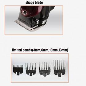 Kemei Alat Cukur Elektrik Hair Trimmer Shaver - KM-2600 - Red - 7
