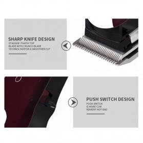 Kemei Alat Cukur Elektrik Hair Trimmer Shaver - KM-2600 - Red - 9