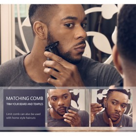 Kemei Alat Cukur Elektrik Hair Trimmer Shaver - KM-701 - Black - 9
