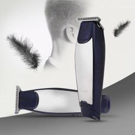 Kemei Alat Cukur Elektrik Hair Trimmer Shaver Rechargeable - KM-5021 - Black - 2