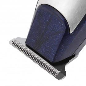 Kemei Alat Cukur Elektrik Hair Trimmer Shaver Rechargeable - KM-5021 - Black - 4