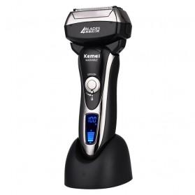 Kemei Alat Cukur Jenggot Elektrik Hair Trimmer Shaver 4 Blades - KM-5568 - Black