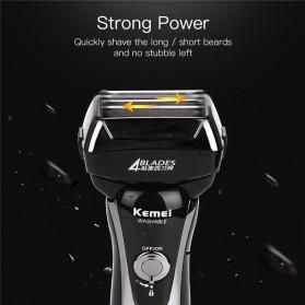 Kemei Alat Cukur Jenggot Elektrik Hair Trimmer Shaver 4 Blades - KM-5568 - Black - 7