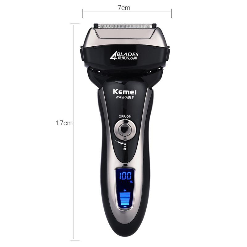 Kemei Alat Cukur Jenggot Elektrik Hair Trimmer Shaver 4 Blades - KM-