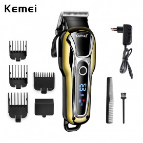 Kemei Alat Cukur Elektrik Hair Trimmer Shaver Rechargeable - KM-1990 - Golden