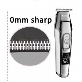 Kemei Alat Cukur Elektrik Mini Hair Trimmer Shaver USB Rechargeable - KM-5027 - Silver - 2