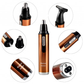 Kemei Alat Cukur Elektrik Nose Ear Eyebrow Trimmer - KM-6629 - Golden