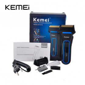 Kemei Alat Cukur Elektrik Nose Ear Hair Style Eyebrow Trimmer - KM-2016 - Black - 5