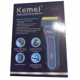 Kemei Alat Cukur Elektrik Nose Ear Hair Style Eyebrow Trimmer - KM-2016 - Black - 7