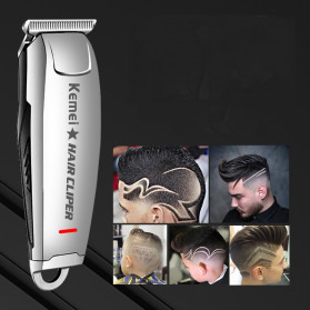 Kemei Alat Cukur Elektrik Hair Trimmer Shaver - KM-2812 - Silver
