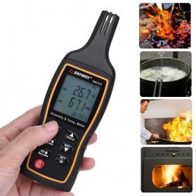 SNDWAY Alat Sensor Thermometer Hygrometer Weather Station - SW-572 - Black