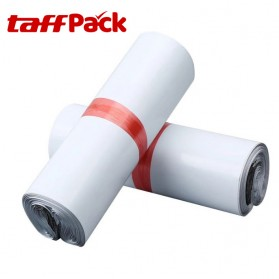 TaffPACK Kantong Amplop Plastik Packing Polymailer Polybag Glossy 60 Micron 17x30cm 100 PCS - White - 5