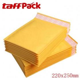 TaffPack Kantong Amplop Express Bubble Bag Kraft Envelope 22 x 25cm 10 PCS - Yellow