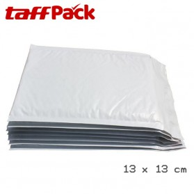 TaffPack Kantong Amplop Plastik Bubble Packing Polymailer Co-Extruded Film 13 x 13cm 10 PCS - White