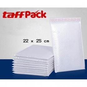 TaffPack Kantong Amplop Express Bubble Bag Matte Pearl Envelope 22 x 25cm 10 PCS - White