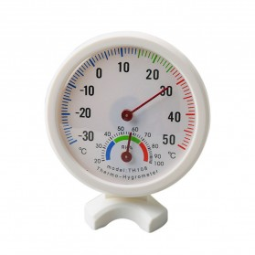 Inpelanyu Analog Thermometer Hygrometer Temperature Humidity Monitor - TH-108 - White