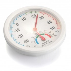 Inpelanyu Analog Thermometer Hygrometer Temperature Humidity Monitor - TH-108 - White - 2