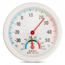 Inpelanyu Analog Thermometer Hygrometer Temperature Humidity Monitor - TH-108 - White - 3