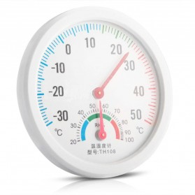 Inpelanyu Analog Thermometer Hygrometer Temperature Humidity Monitor - TH-108 - White - 4