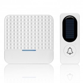 Forecum Alarm Pintu Wireless Waterproof dengan Solar Power - D009 - White